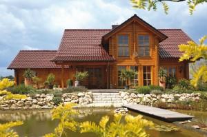 Kantholzbalken Haus Buchholz