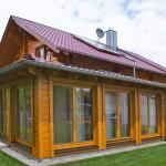 """Holzhaus aus Kantholzbalken """"Mücke"""""""