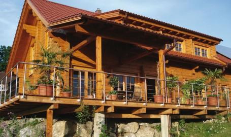 """Holzhaus aus Kantbalken """"Paduano"""""""