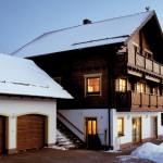 "Holzhaus aus Kantholzbalken ""Schmidt"""