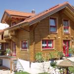 "Holzhaus aus massiven Rundbalken ""Beer"""