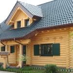 "Holzhaus aus massiven Rundholzbalken ""Peters"""