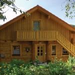 """Holzhaus aus massiven Rundbalken """"Himmelstoss"""""""