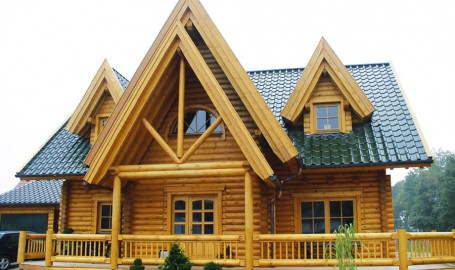 """Holzhaus aus massiven Rundbalken """"Sobkowiak"""""""