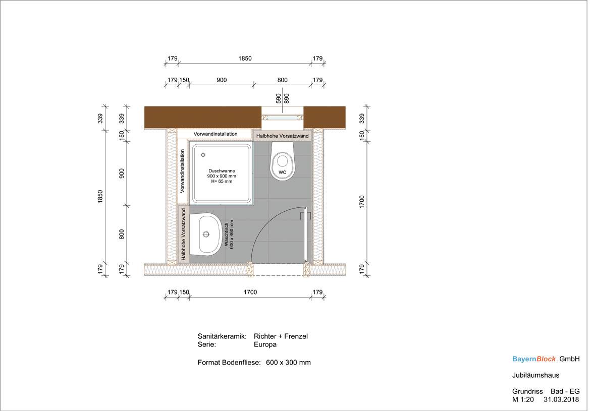 Standardbad Jubiläumshaus 1